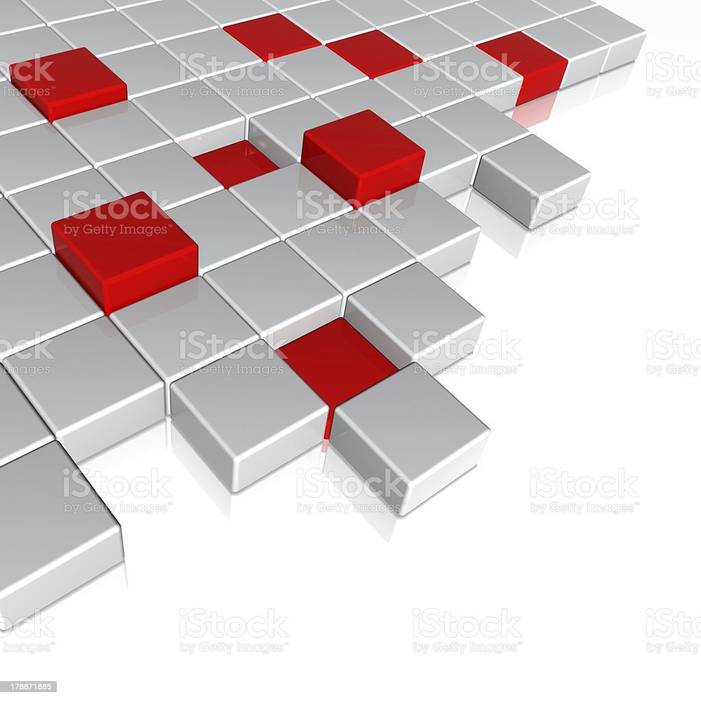 3d cubes royalty-free stock photo