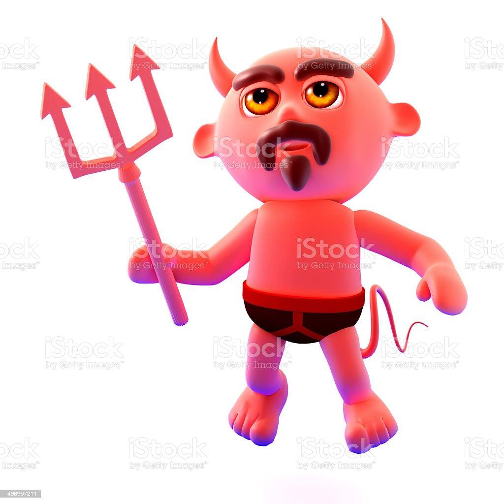 3d Devil flies up royalty-free stock photo