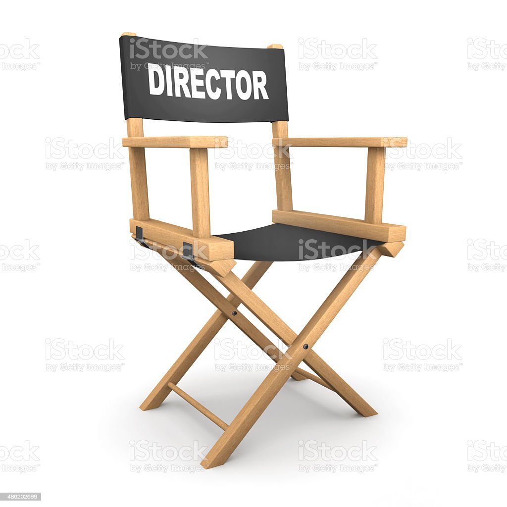 3d Directors chair stock photo