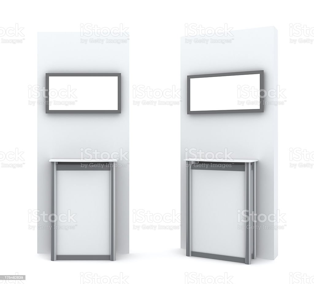 3d display stand with plazma royalty-free stock photo