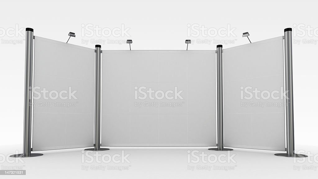 3d display,advertisement exhibition stand royalty-free stock photo