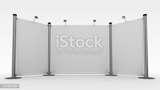 istock 3d display,advertisement exhibition stand 147321531