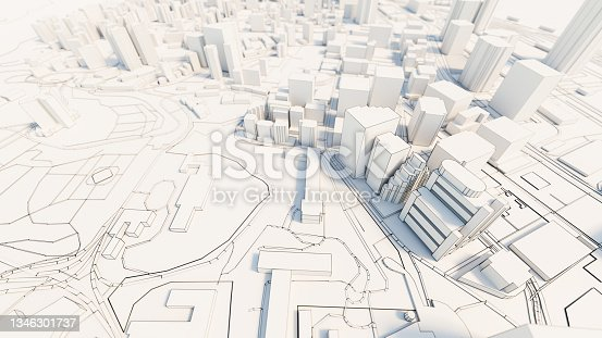istock 3d downtown white business downtown 1346301737