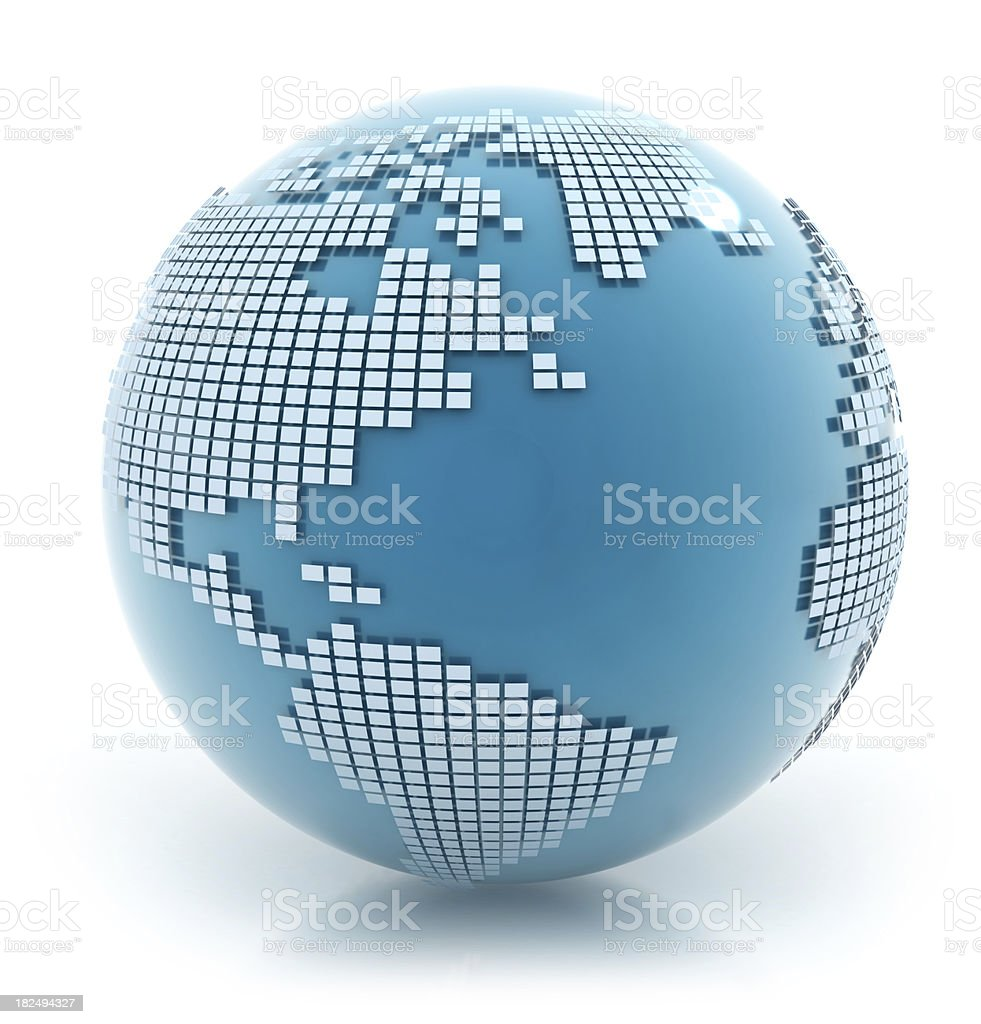 3d Earth - America royalty-free stock photo