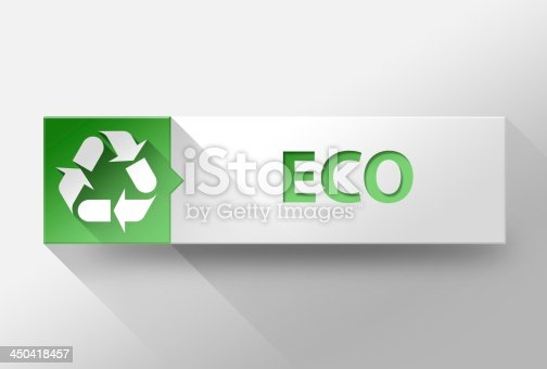 istock 3d ECO flat design, illustration 450418457