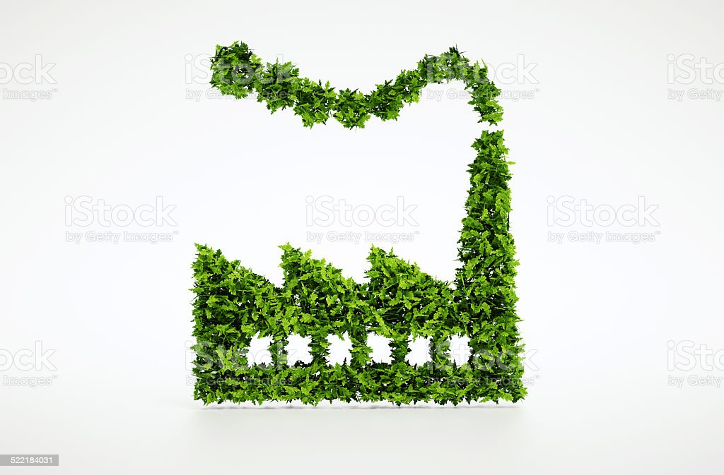 3d Ecology industry symbol stock photo