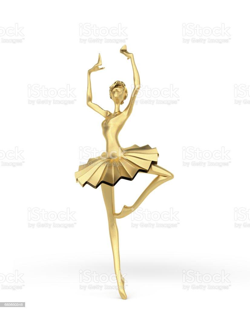 3d 高雅芭蕾舞女4 免版稅 stock photo