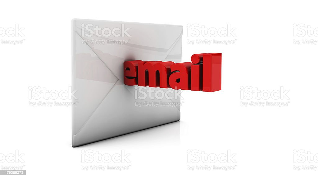 3d email and envelope stock photo