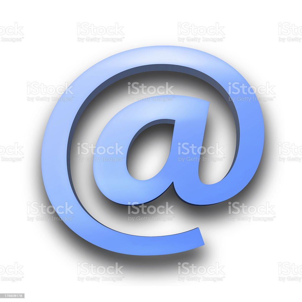 3d e-mail White background royalty-free stock photo