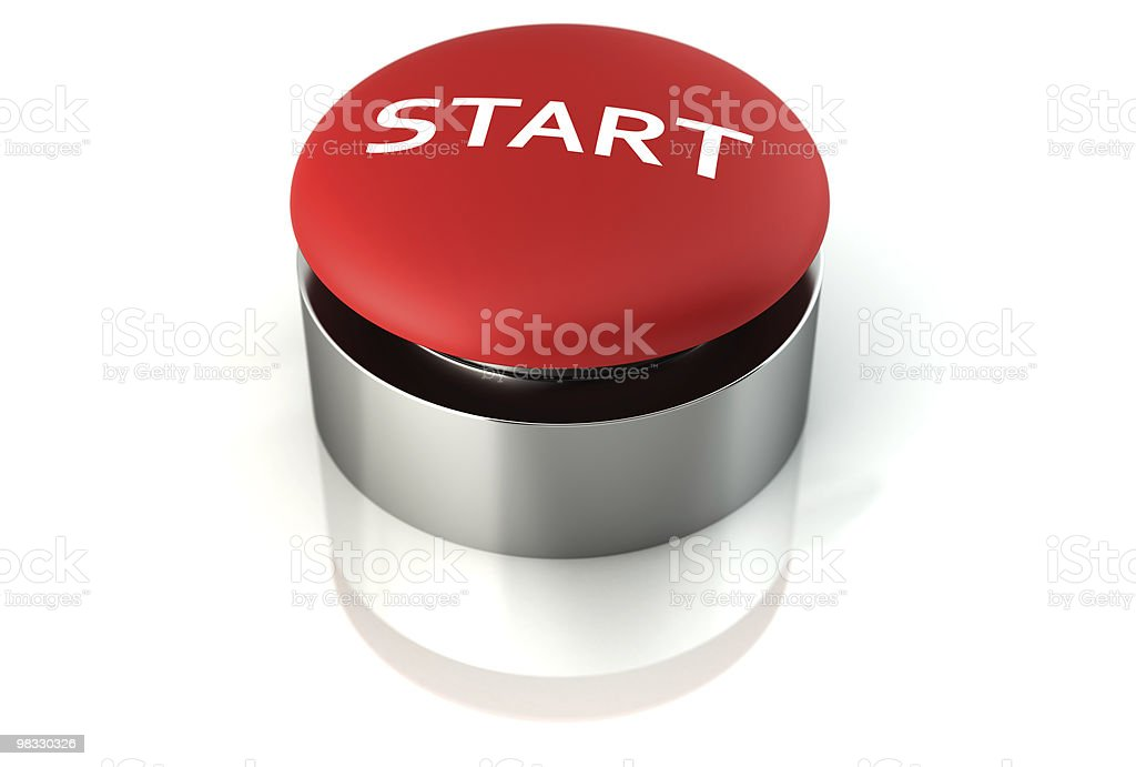 3d emergency start button royalty-free stock photo