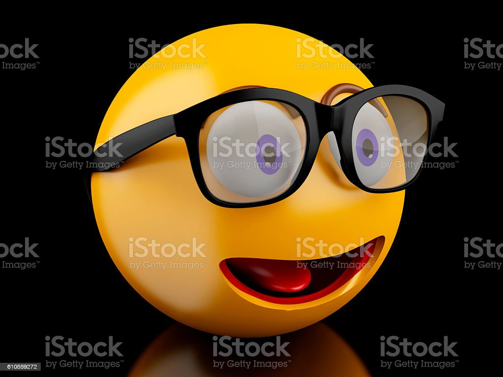 3d Emoji icons with facial expressions. stock photo