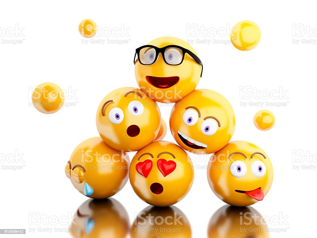 3d Emojis Icons With Facial Expressions Stock Photo 610559442 IStock