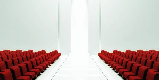 3d Empty fashion runway 3d Empty fashion runway elevated walkway stock pictures, royalty-free photos & images