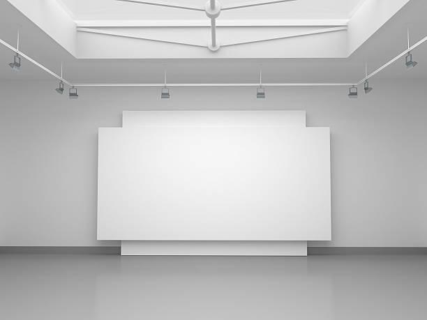 3 d vacío espacio de galería - foto de stock