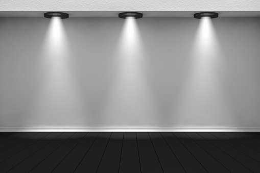 1015509020 istock photo 3d empty interior template with spotlight 1015507732