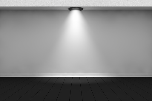 1015509020 istock photo 3d empty interior template with spotlight 1015508350