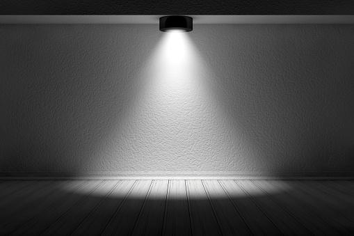 1015509020 istock photo 3d empty interior template with spotlight 1015508554
