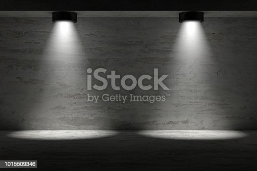 1015509020istockphoto 3d empty interior template with spotlight 1015509346
