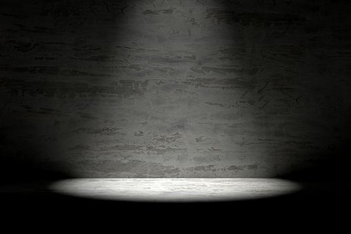 1015509020 istock photo 3d empty interior template with spotlight 1015509464