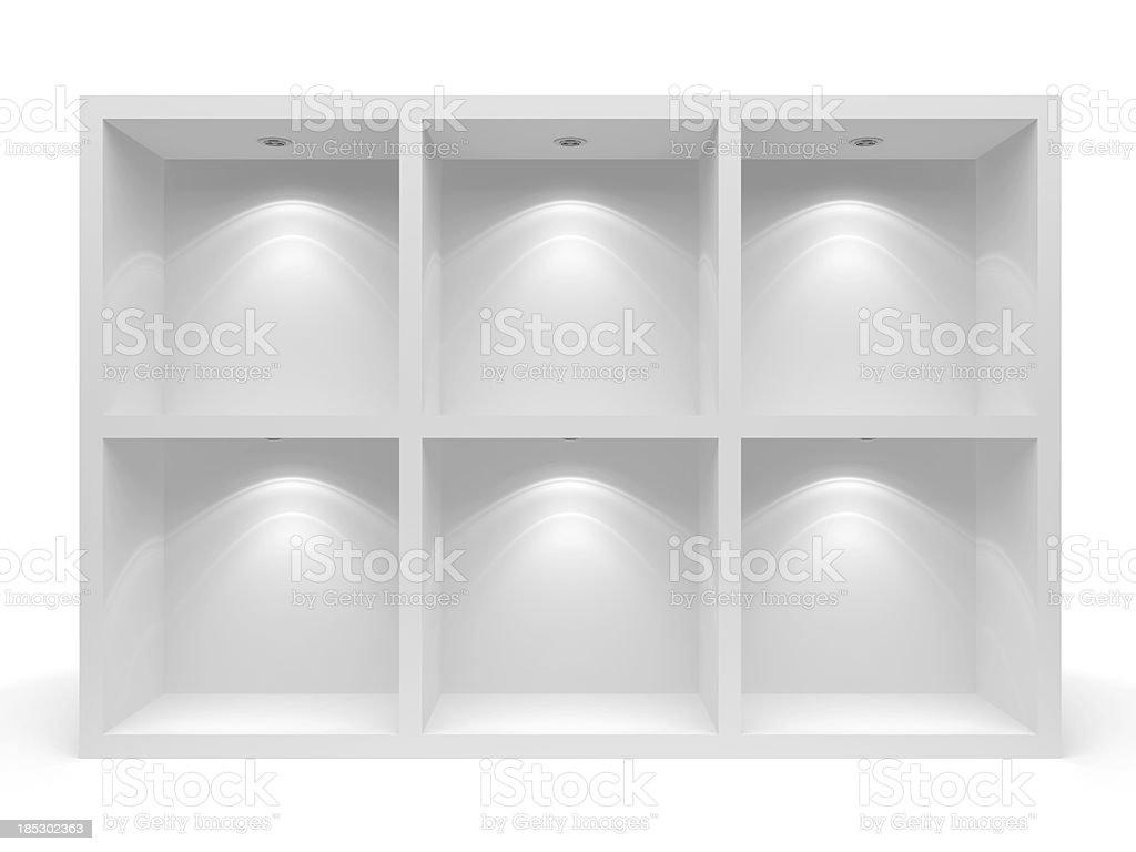 3d Empty racks royalty-free stock photo