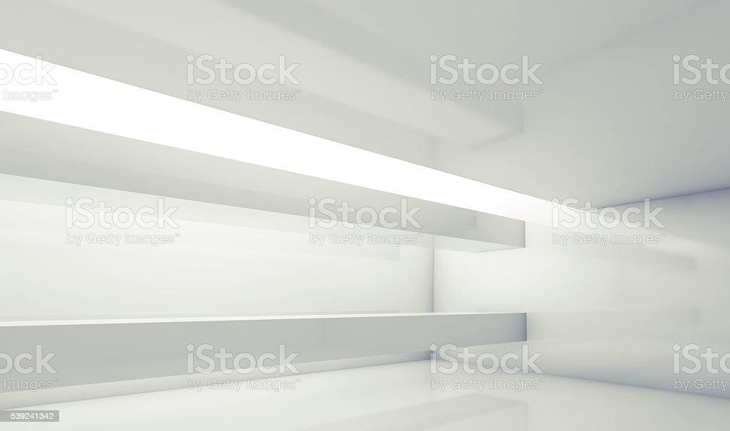 3d empty room with beams and soft illumination royalty-free stock photo