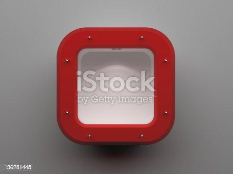 istock 3d Empty shelf 136281445