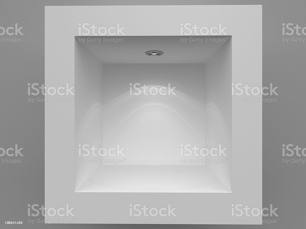 3d Empty showcase background royalty-free stock photo
