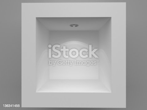 istock 3d Empty showcase background 136341455