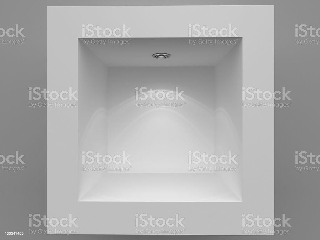 3d Empty showcase background stock photo