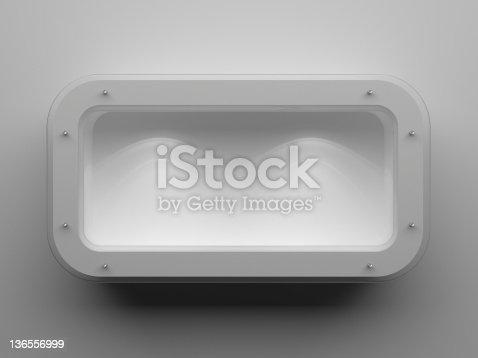 istock 3d Empty showcase 136556999