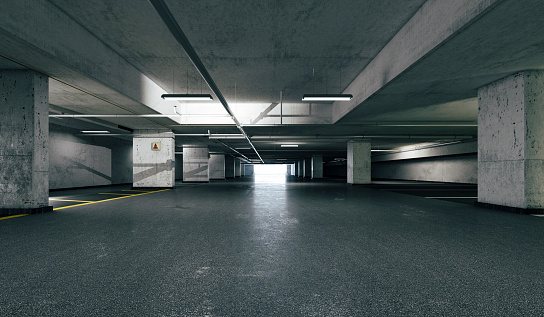 istock 3d empty underground parking space 1080950598