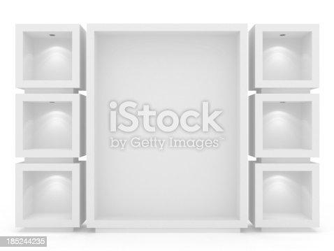 istock 3d Empty vitrine 185244235