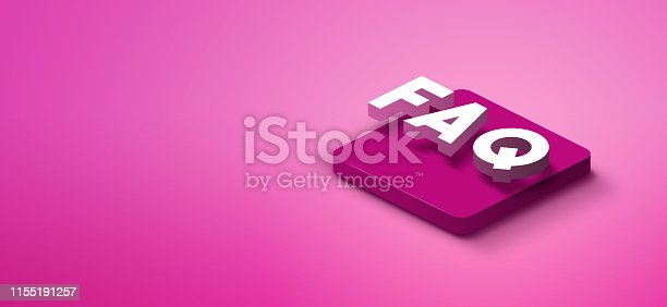 1155191162istockphoto 3d faq icon on pink abstract background 1155191257