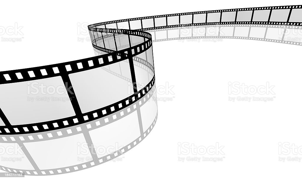 3d filmstrip with reflection royalty-free stock photo