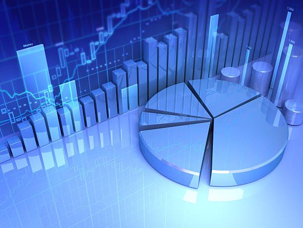 3d Finance stock photo