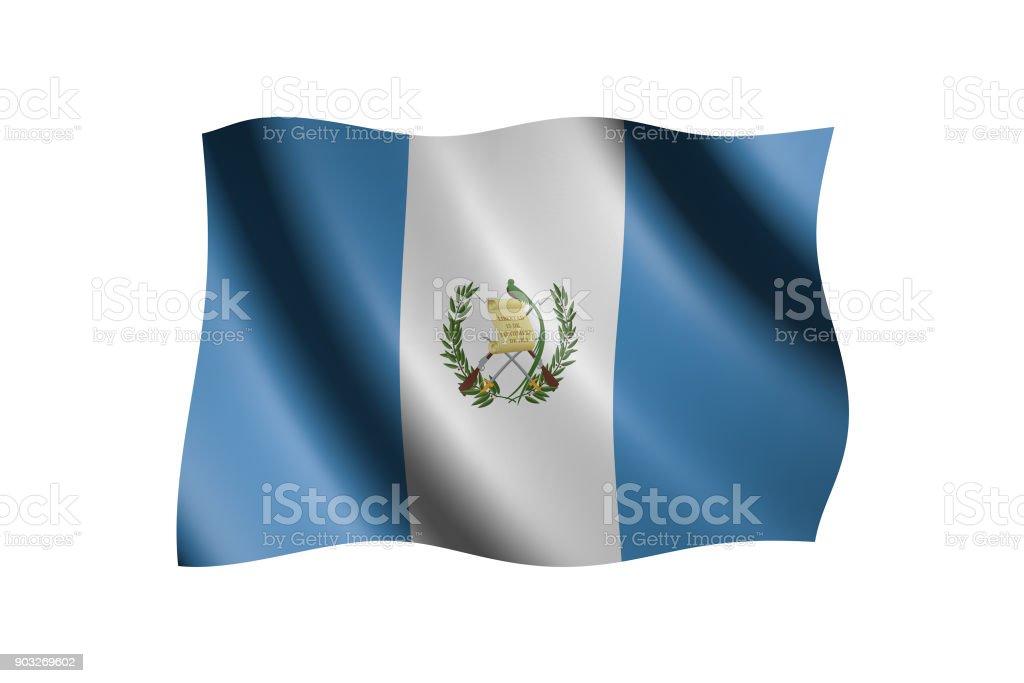Bandera 3D aislado en blanco - foto de stock