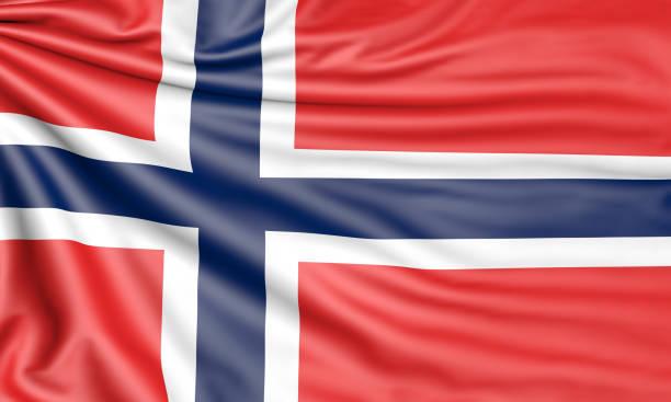 3d flagge - norwegen fahne stock-fotos und bilder