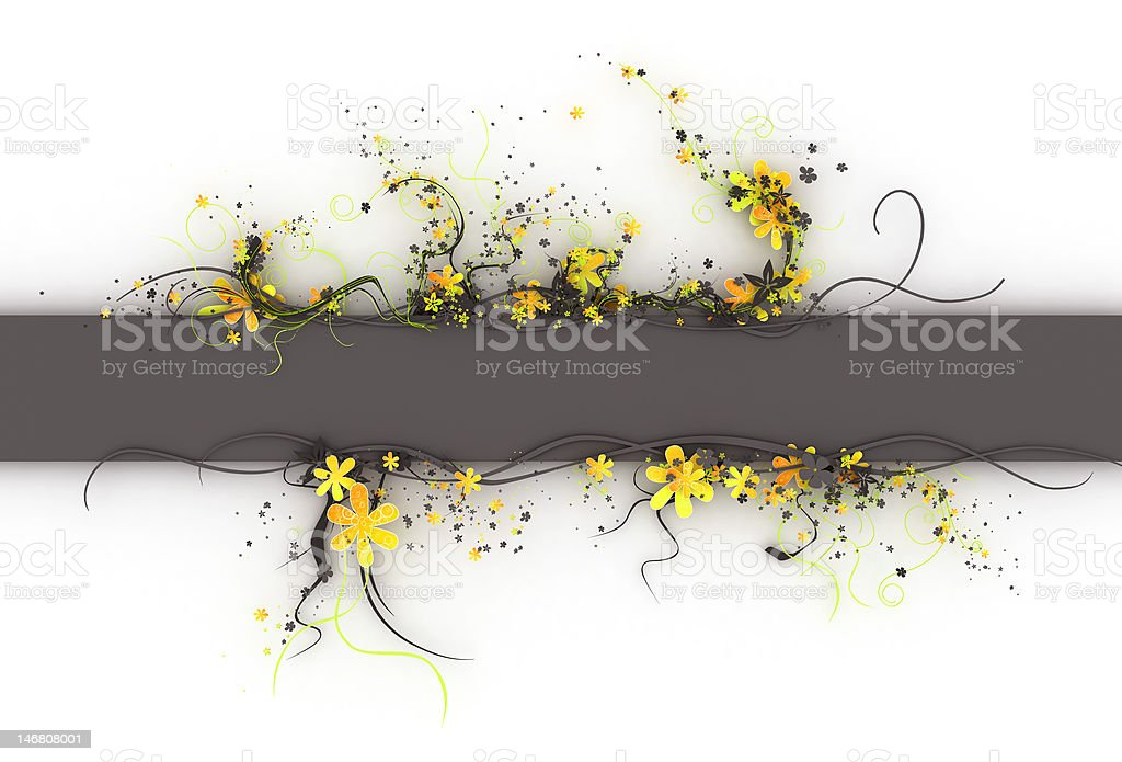 3d flowers banner teamplate royalty-free stock photo