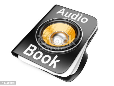 istock 3d folder with speaker. audio-book concept 467285851