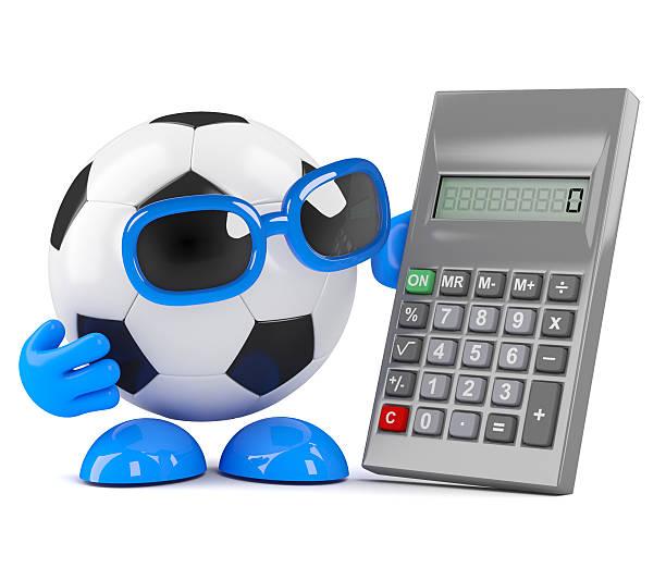 3d Football calculates stock photo