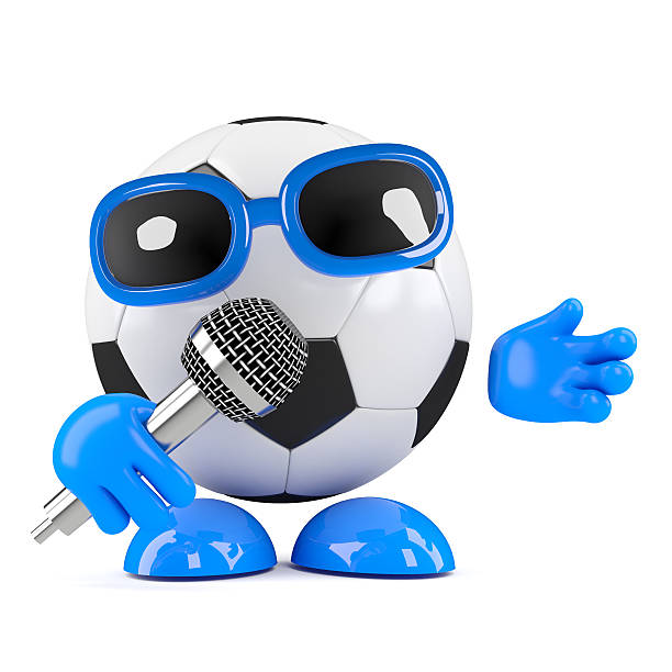 3d Football sings stock photo