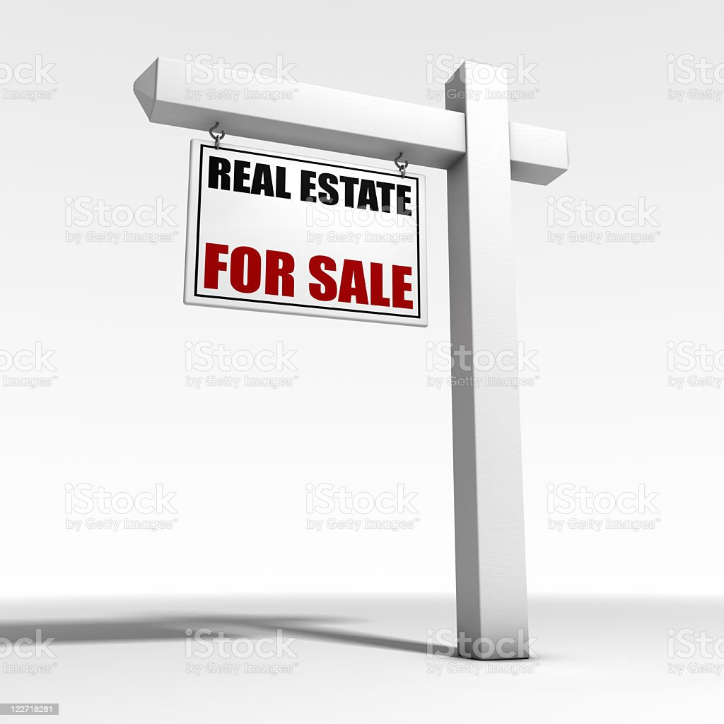 3d For Sale Real Estate Sign royalty-free stock photo