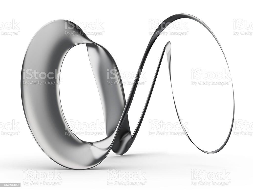 3d Futuristic Infinity Shape royalty-free stock photo