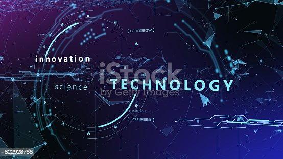 827387052 istock photo 3d Futuristic user interface. Technological background 822928788