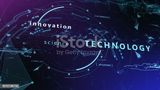 827387052 istock photo 3d Futuristic user interface. Technological background 825208230
