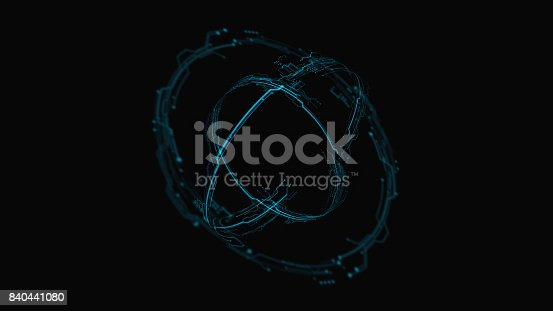 827387052 istock photo 3d Futuristic user interface. Technological background 840441080
