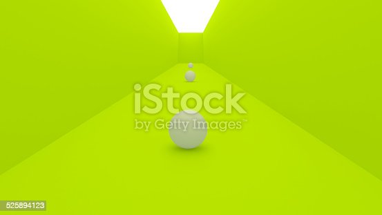 478919130istockphoto 3d gallery concept, green wall 525894123