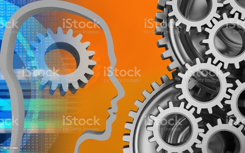 3d gear stock photo