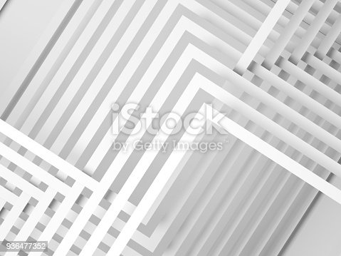 927319980 istock photo 3d geometric pattern of intersected stripes 936477352