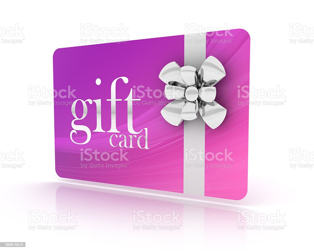 3d gift card stock photo